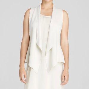 Eileen Fisher Drape Front Vest in Bone Fitted XL